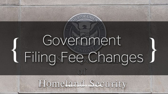 Government Filing Fee Changes