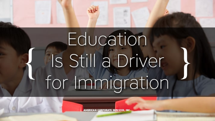 Education Is Still a Driver for Immigration