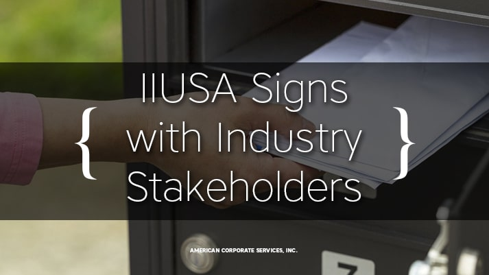 IIUSA Signs with Industry Stakeholders