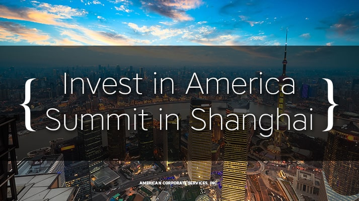 Invest in America Summit in Shanghai