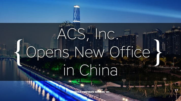 American Corporate Services, Inc. Opens New Office in China