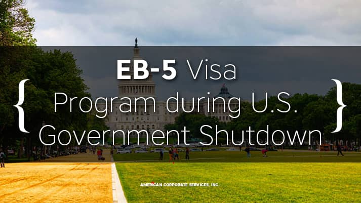 EB-5 Visa Program during U.S. Government Shutdown