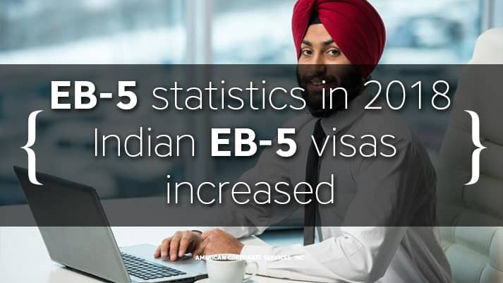 EB-5 visas for Indian investors increased more than three times. EB-5 program statistics in 2018.
