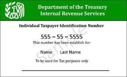 U.S. Tax ID number for non-residents