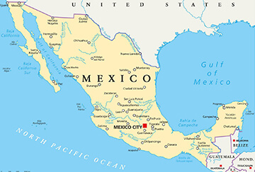 How to reach the Mexico-American border