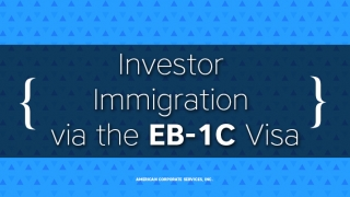 A Path to Chinese Investor Immigration via the EB-1C Visa
