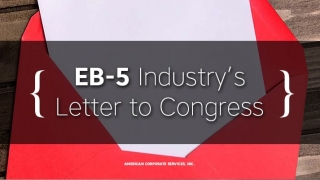 EB-5 Industry's Letter to Congress