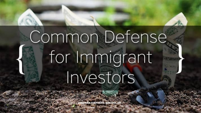 "Why ""Ensuring the Common Defense"" Is Important for Immigrant Investors"