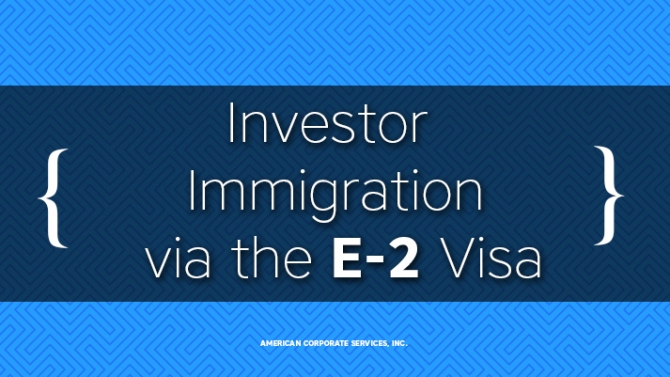 A Path to Chinese & Russian Investor Immigration via the E-2 Visa